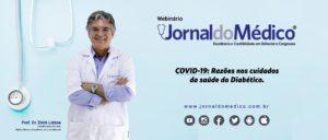 banner webinário diabetes covid-19 coronavírus