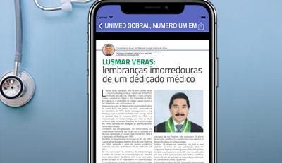 Saudoso Dr. Lusmar Veras foi destaque na edição 106 do Jornal do Médico®