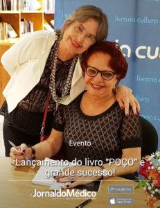 Dra. Ana Margarida Rosemberg (Conselheira Jornal do Médico) e Dra. Márcia Alcântara (autora da obra literária)